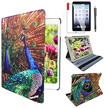 Ipad Smart Cover Stand Case Support Wake/Sleep Function Fit for Apple iPad Air 2nd Generation Compatible Models A1566 A1567 16 GB 32 GB 64 GB 128 GB Peacock Designs case