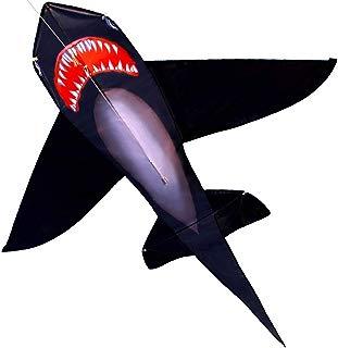 HENGDA KITE for Kids Lifelike Black Shark Kite Single Line Kite Flying for Children Kids Outdoor Toys Beach Park Playing