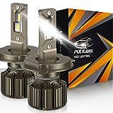 Pulilang Bombillas para Coche H4 LED Bombilla para Faros Delanteros , CSP 3570 70W 10500LM 6000K IP68, Paquete de 2