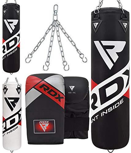 RDX Saco de Boxeo Relleno MMA Muay Thai Kick Boxing Artes Marciales con Guantes Cadena Entrenamiento 4FT 5FT Punching Bag