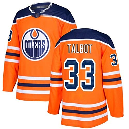 HSSE 33# Talbot, Orange Oil Team, ice Hockey Jersey, Quick-Drying, Breathable, Comfortable Ball Suit, repeatable Cleaning-XXL