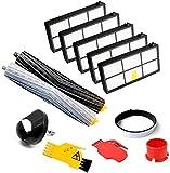 Filtro de aspiradoras compatible con IRobot Roomba rueda delantera 800 900 Series 860 865 866 870 880 885 886 886 890 960 966 980 Escobillas extractoras de desechos Accesorios Hogar Filtros Cepillo