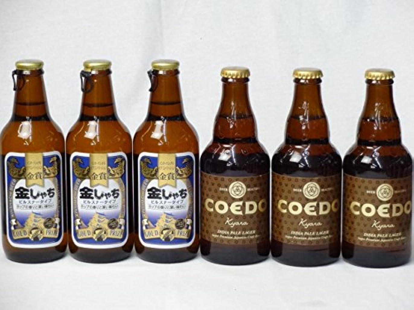 追加する結婚式カスケードクラフトビールパーティ6本セット 金しゃちピルスナー330ml×3本 コエドKyara333ml×3本