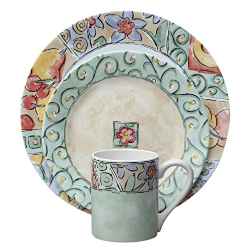 Corelle Impressions 16-Piece Dinnerware Set, Watercolors, Service for 4