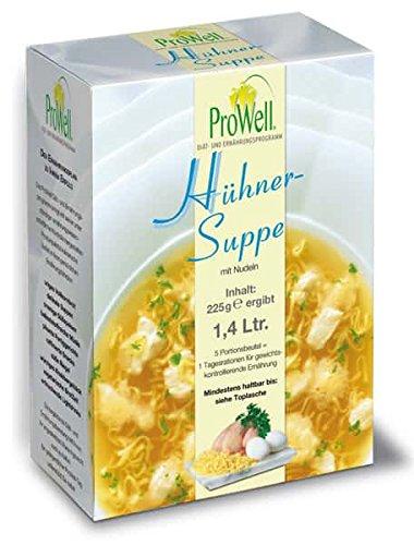 ProWell Diät- und Ernährungsprogramm - Hühnersuppe - 225 g (5 Portionen)