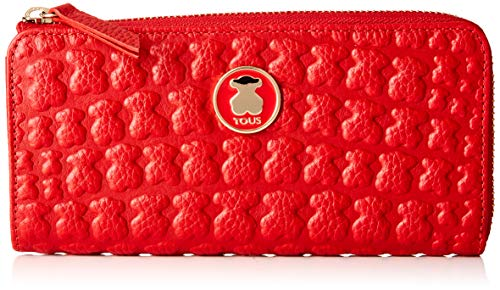 TOUS 995960440, Monedero para Mujer, Rojo (Rojo), 19x10x2 cm (W x H x L)