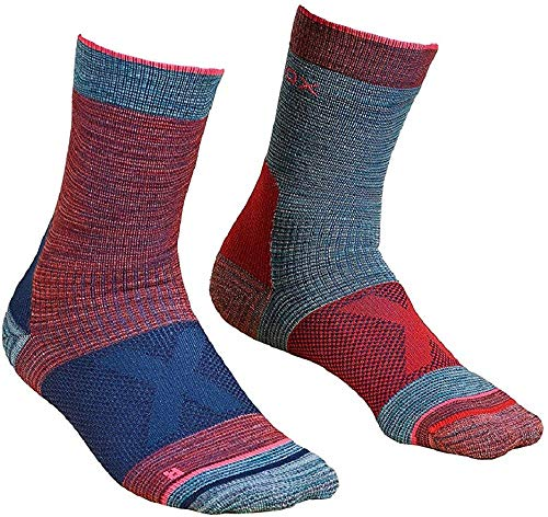 ORTOVOX Damen Alpinist Mid Socken, Hot Coral, 35-38