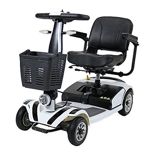 電動シニアカート 白 シルバーカー 車椅子 TAISコード取得済 運転免許不要 折りたたみ 軽量 コンパクト 電動カート 四輪車 4輪車 移動 高齢者 充電 シート回転 電動車椅子 電動車いす 介護 福祉 敬老 お年寄り 老人 乗り物 贈り物 プレゼント