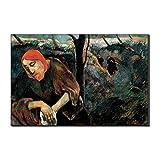 Five-Seller Lienzo Pinturas Famosas Cristo En El Jardín De Las Aceitunas por Paul Gauguin Arte De La Pared Reproducción De Bellas Artes Impreso En Lienzo Obra De Arte (Sin Marco,60_x_90_cm)