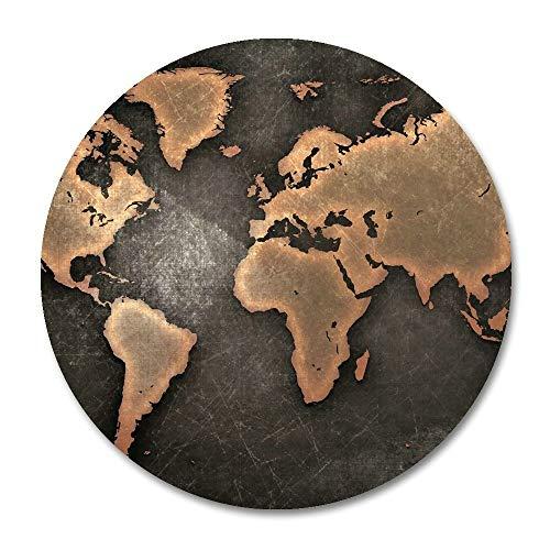 Not Applicable Alfombrilla de ratón Redonda Personalizada del Mapa del Mundo 7.8 'X7.8' Pulgadas