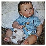 Kit Reborn Kit Reborn Baby Vinyl Kit 23 Pulgadas 3 Meses Joseph Piezas de muñecas sin terminar sin Pintar DIY Kit de muñeca de Vinilo Reborn Reborn (Color : Joseph Awake)