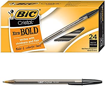 24-Count BIC Cristal Xtra Bold Point Ballpoint Pen