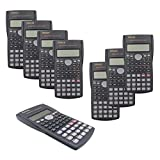 RENUS 8 Packs, 2-Line Engineering Scientific Calculator Function Calculator for Student and Teacher 16 AAA Batteries Included