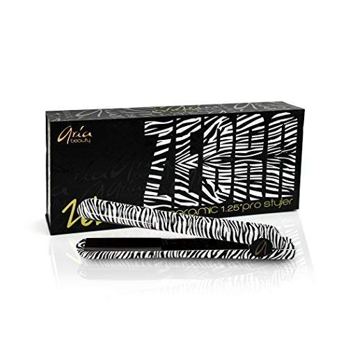 "ARIA Beauty 1.25"" CERAMIC PRO STYLER ZEBRA - Lebenslange Garantie"