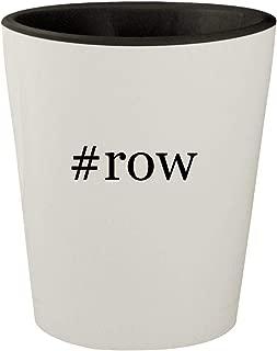 #row - White Outer & Black Inner Hashtag Ceramic 1.5oz Shot Glass