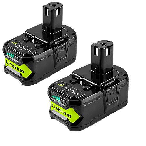 2Pack 5.0Ah P108 Replacement for Ryobi 18v Battery P102 P107 Ryobi Battery 18v Lithium-ion P104 P103 P105 P109