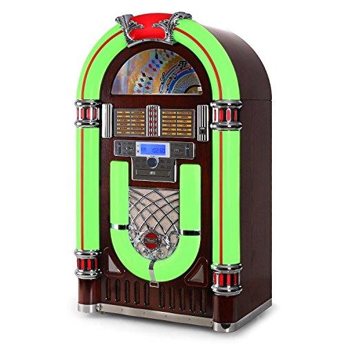 Audiola Majestic JB 3710TT Jukebox (Rockabilly Jukebox Estilo Retro, conexión...