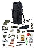 S1 48 h Fluchtrucksack/Prepper Rucksack/Krisenvorsorge/Not-Überlebensrucksack/Biwak / 30 Teilig