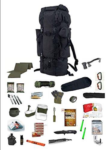 48 h Fluchtrucksack / Prepper Rucksack / Krisenvorsorge / Not-Überlebensrucksack / Biwak / 30 Teilig