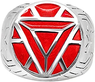 Marvel's Iron Man Armor *Women's* Ring in Sterling Silver - 4 Red