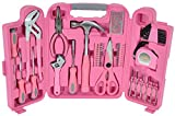 Großer Werkzeugkoffer in pink inkl. pinke Werkzeuge im Werkzeugset - Frauen Werkzeugkoffer als lustiges Geschenk für Frauen | Pinkes Werkzeugset für Frauen mit pinke Werkzeuge