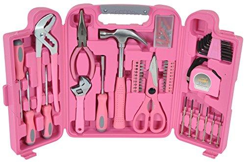 Großer Werkzeugkoffer in pink inkl. pinke Werkzeuge im Werkzeugset - Frauen Werkzeugkoffer als lustiges Geschenk für Frauen   Pinkes Werkzeugset für Frauen mit pinke Werkzeuge