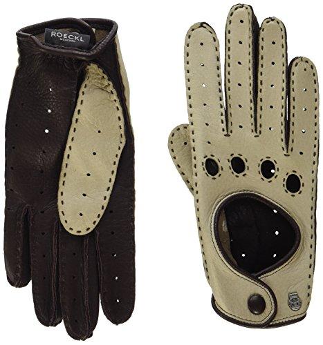 Roeckl Damen Classic Driver Deer Hirsch - Nappaleder Handschuhe, Beige (Ecru/Coffee 906), 7