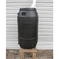 55 Gallon Black Rain Barrel