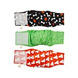 PETTING IS CARING Male Dog Wraps Washable & Reusable Belly Band Diapers Materials Durable Machine Washable - 3 Pack Set (New, S) (XL, New)