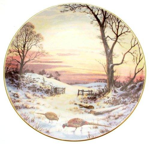 Royal Doulton C1984 Evening Glow Tranquille avec Nature Elizabeth Gris Édition limitée de Seulement 10 000 plaques Tn205