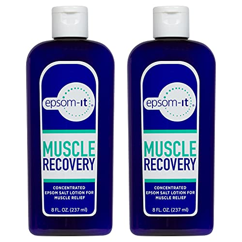 EPSOM-IT MUSCLE RECOVERY LOTION Natural, Concentrated Magnesium Sulfate cream fortified with Arnica, for muscle pain and stiffness from running, sprains, backaches, exercise and walking (2 Pack)