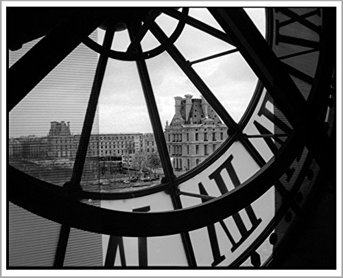 Paris Black and White Photography Musee d'Orsay Clock Art Print, 8x10