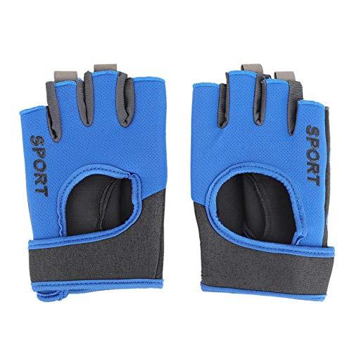 FOLOSAFENAR Guantes Deportivos elásticos Un par de Guantes de Ciclismo, para Otros Deportes Que Necesitan Usar Las Manos, para Ciclismo(L, Half-Finger Gloves)