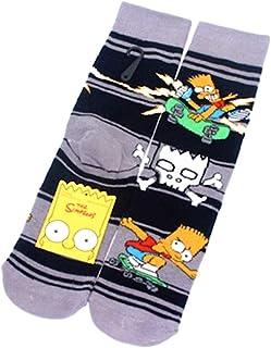 KUSTOM FACTORY - Calzini per Homer e Bart Simpson, confezione da 2 paia di calzini