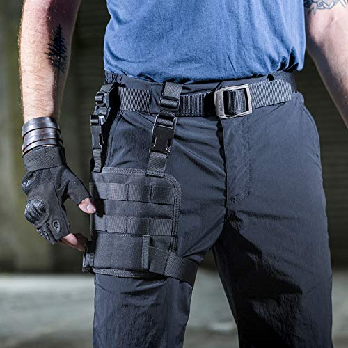 OneTigris Hailstorm Drop Leg Platform Thigh MOLLE Rig with Adjustable Belt & Thigh Straps (Black)