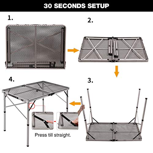 redcamp folding portable grill table - redcamp folding portable grill table