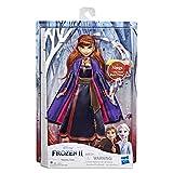 Hasbro Disney Frozen Anna Cantante Bambola Elettronica con Abito Viola, Ispirato al Film Frozen 2, Multicolore, E6853IC0