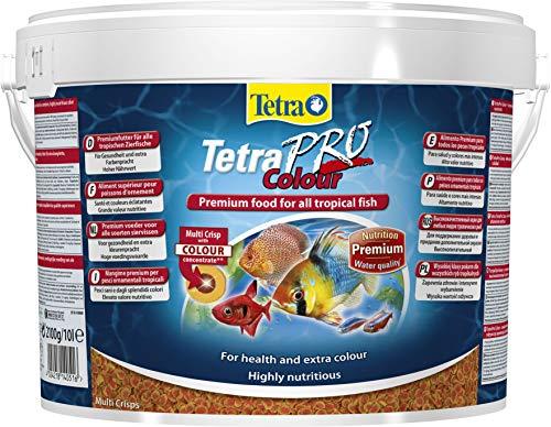 Tetra Pro Colour Multi Crisps Aliment complet premium - Nourriture de qualité supérieure pour poisson d'ornement tropical - Boîte de 10 L