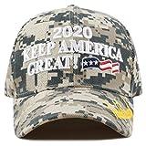 The Hat Depot Exclusive 45th President Trump Make America Great Again 3D Cap (2020Trump-Digital Camo)