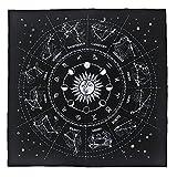 WFTD 12 Constelaciones Altar Tarot Card Cloth, Mantel Estrellado,...