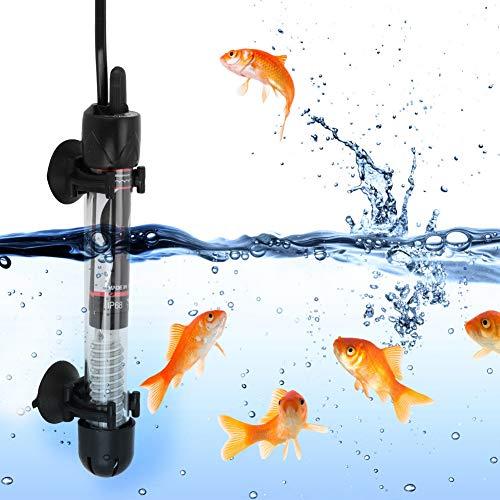 03 220-240V HX-906 Calentador de Tanque pequeño, Calentador de Acuario, Enchufe de la UE 25W / 50W / 100W / 200W / 300W para Peces Betta de Agua Salada para Agua Dulce(50W)