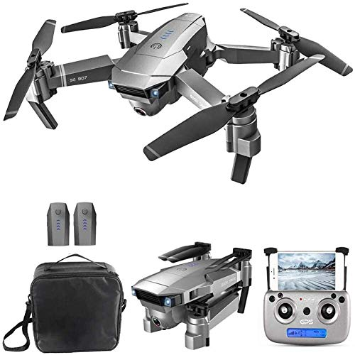 RVTYR GPS Drone mit 4K-Kamera for Erwachsene, 5G WiFi Live Video GPS Rückholhaus 18 Minuten Flugzeit Follow Me RC Profi Quadcopter for Erwachsene Tragetasche drohne mit Kamera (Color : 2 Battery)