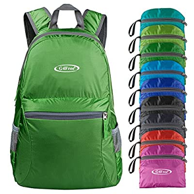 G4Free Lightweight Packable Backpack Travel Hiking Daypack Foldable (Army Green)