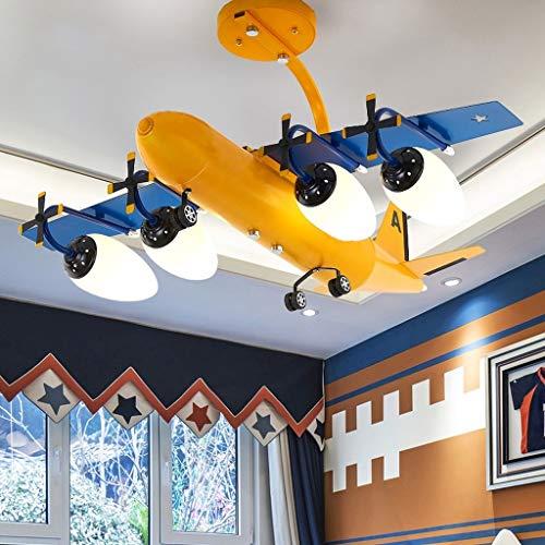 Metdek Lámpara de araña para habitación infantil, diseño de avión
