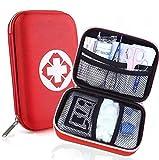 zimohe Botiquín de Primeros Auxilios, Mini Kit de Supervivencia, Adecuado para El Coche, Hogar, Camping, Caza, Viajes, Aire Libre o Deportes- Rojo