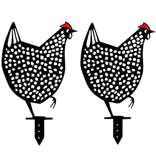 YSHUAI Tapón De Metal Gallo Y Gallina, Diseño Innovador Pollo Decoración Deco Jardín, Figura Decoración De Jardín Realista, Decoración De Pollo Figura Animal, Decoración De Jardín,A,2pcs