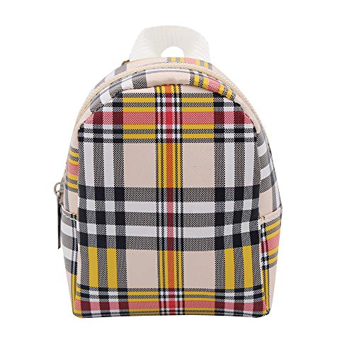 Uteruik Puppenrucksack, passend für 46 cm große amerikanische Puppen, Mini-Reißverschluss, Schultasche, Zubehör, Spielzeug #E