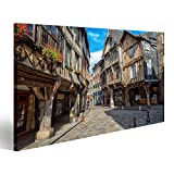 Bild Bilder auf Leinwand Dinan Altstadt, historische