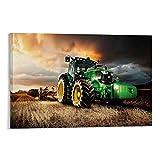QINGF Landwirtschaftlicher Traktor Kunstdruck auf Leinwand,