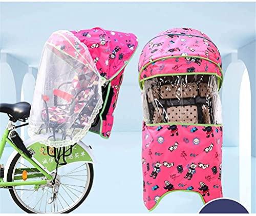 X&Y Cubierta del Asiento Trasero del niño de la Bicicleta eléctrica, Cuatro Temporadas Universal a Prueba de Viento a Prueba de Agua a Prueba de Agua con Dosel de Lluvia, sin Asiento (Color : B)